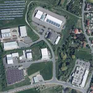 """Luftbild des Gewerbegebietes """"Eisenberg Nord"""""""