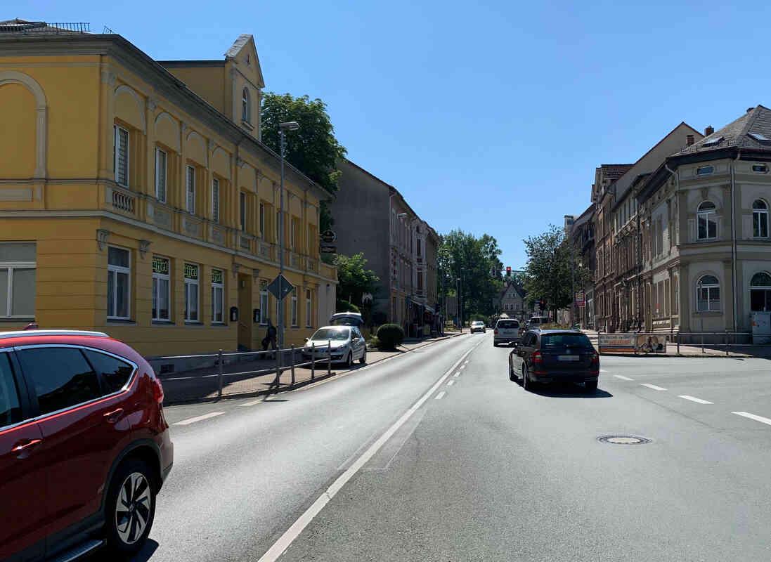 Ansicht der Friedrich- Ebert- Straße