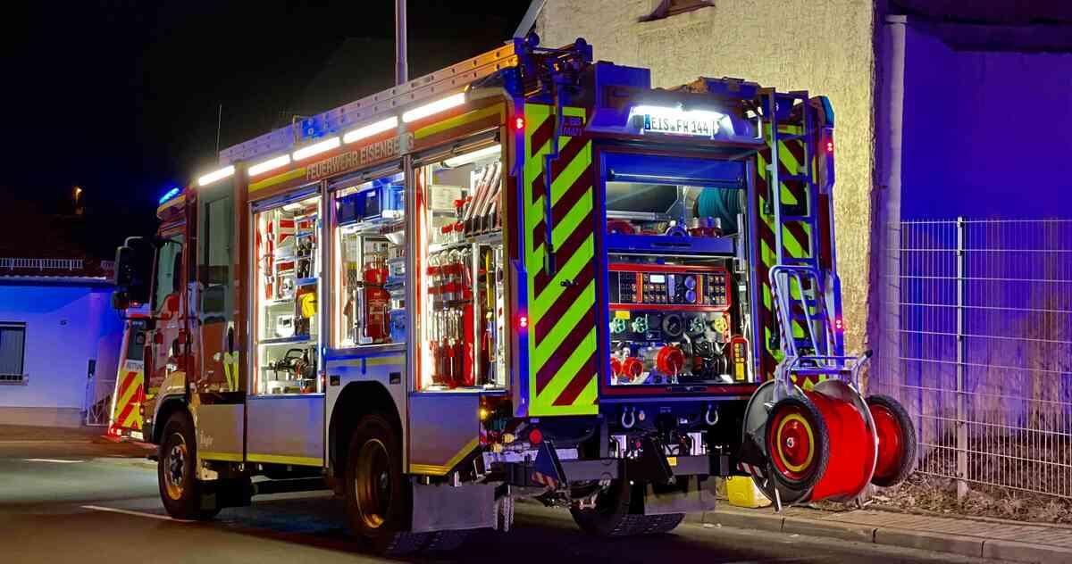 Einsatzfahrzeug der Freiwilligen Feuerwehr Eisenberg
