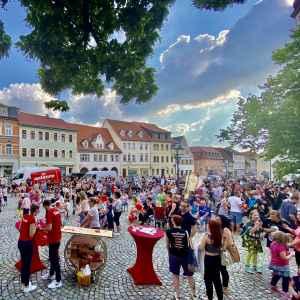 Veranstaltung auf dem Markt
