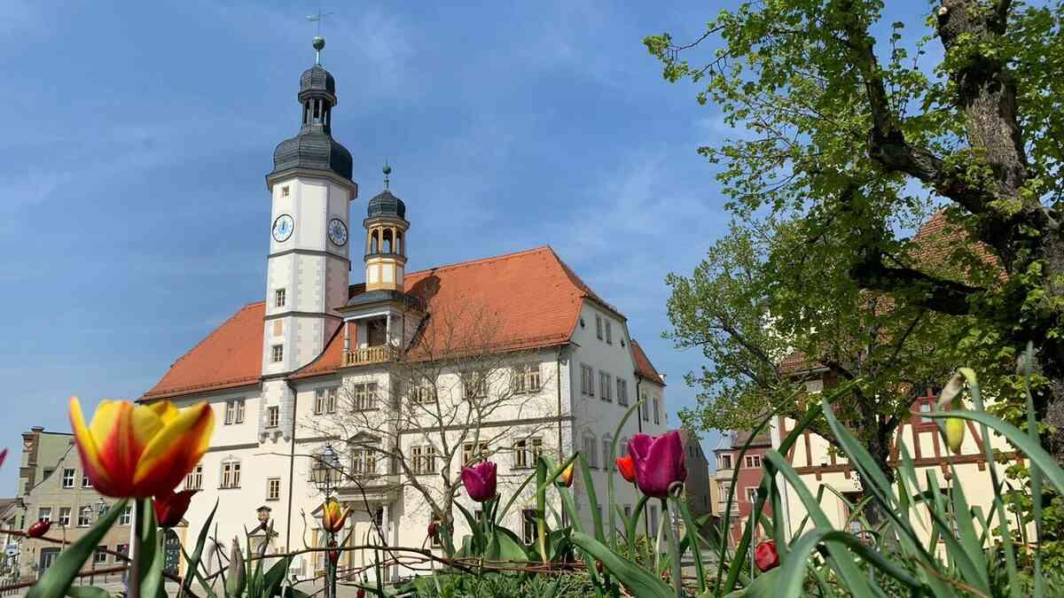 Rathaus im Frühling