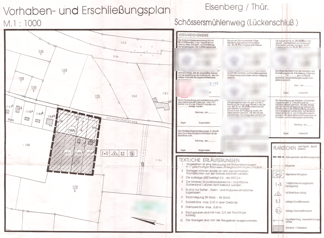 Vorhaben- und Erschließungsplan Schössersmühlenweg Lückenschluss