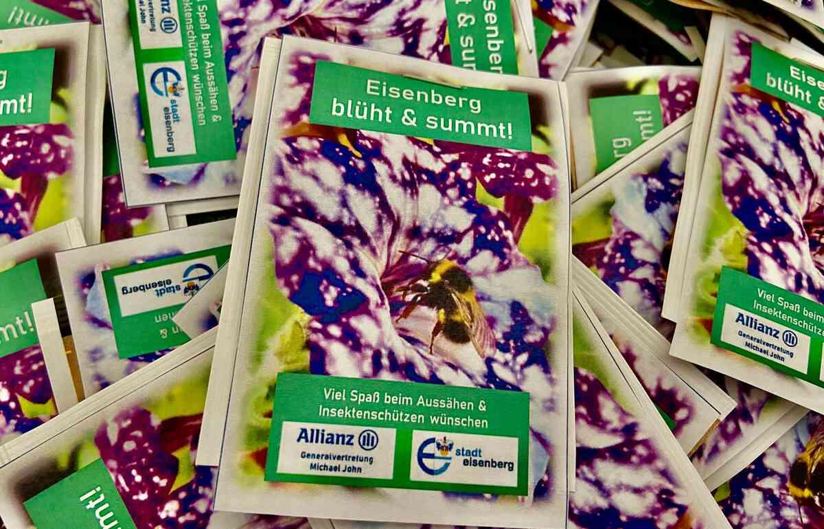 """Samentütchen zur """"Aktion Eisenberg blüht und summt!"""""""