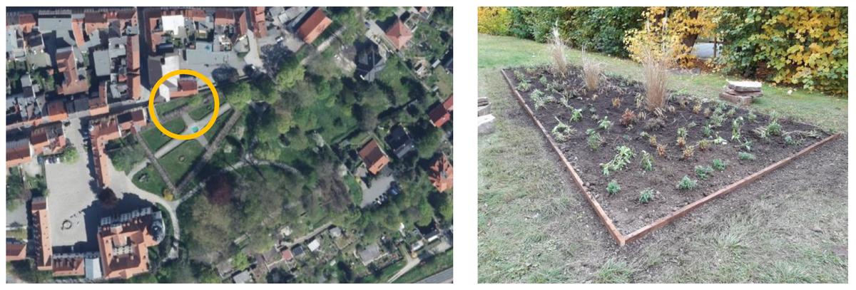 Lageplan und Ansicht des Prinzessinnengartens