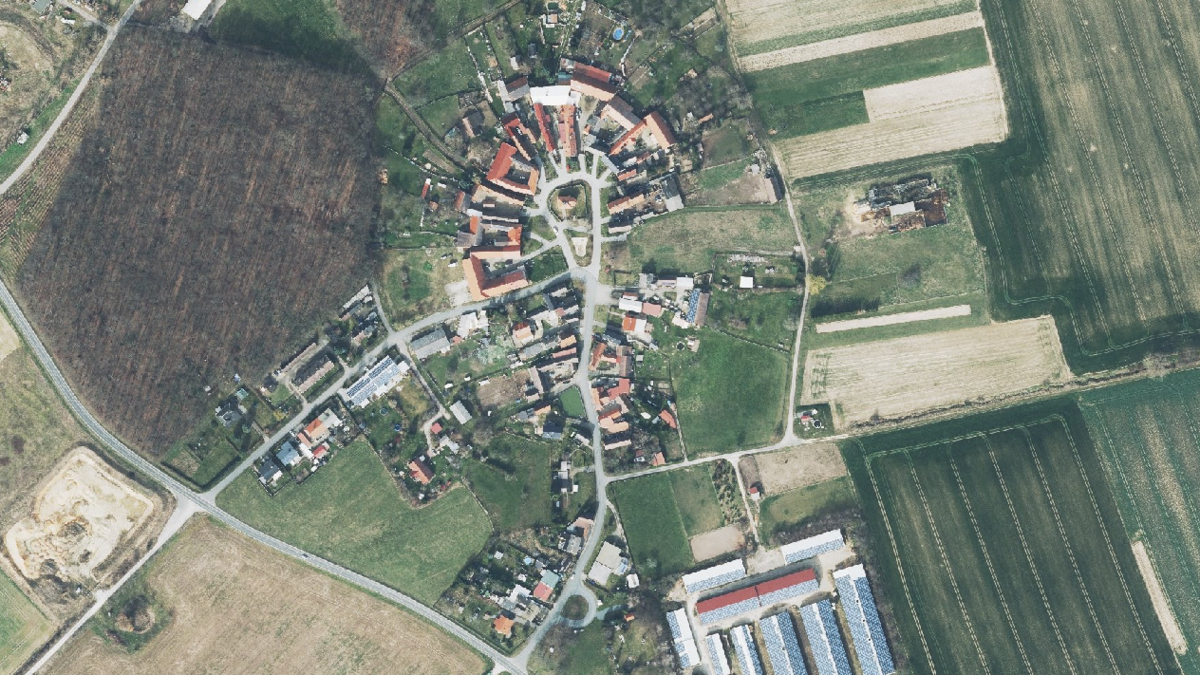 Luftbild der Gemeinde Mertendorf