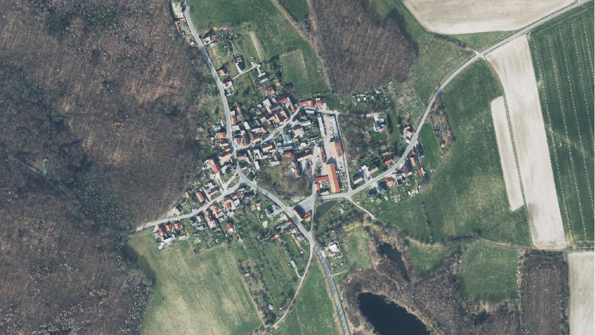 Luftbild der Gemeinde Gösen