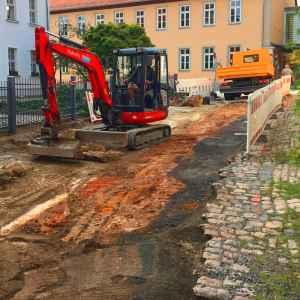 Bauarbeiten in der Schulgasse