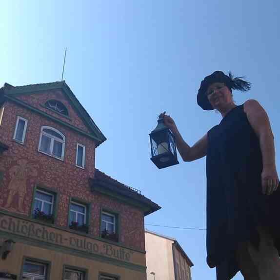 Aktionskünstlerin Bea Müller