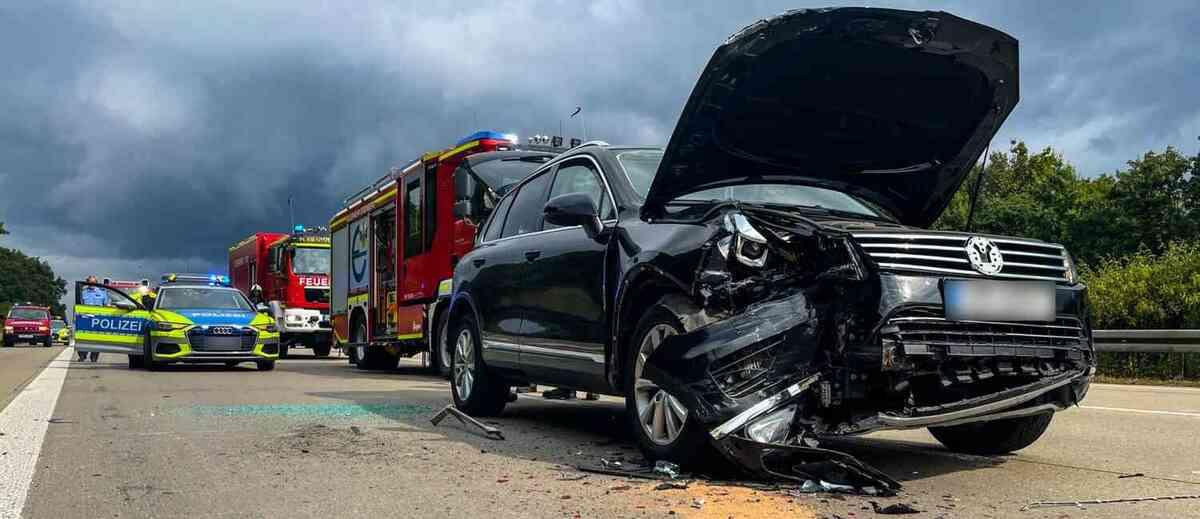 Einsatz der Feuerwehr auf der Autobahn