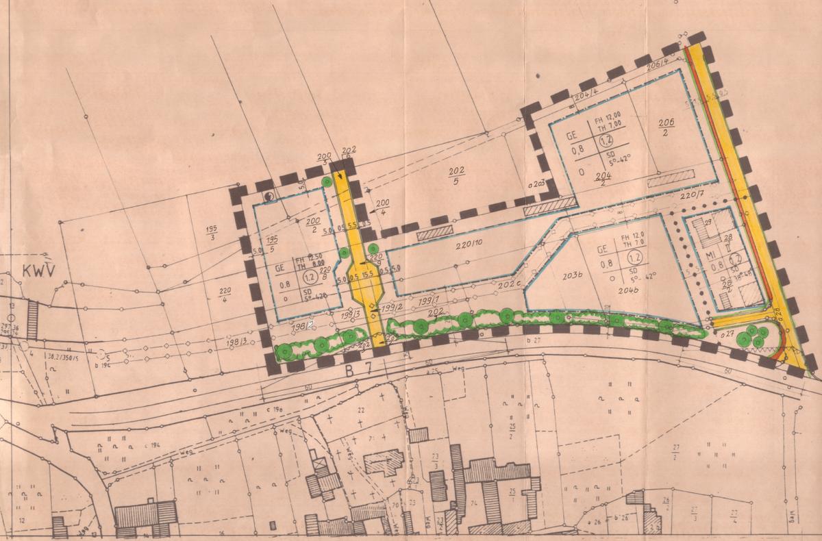 Bebauungsplan Nummer 2 Gewerbegebiet