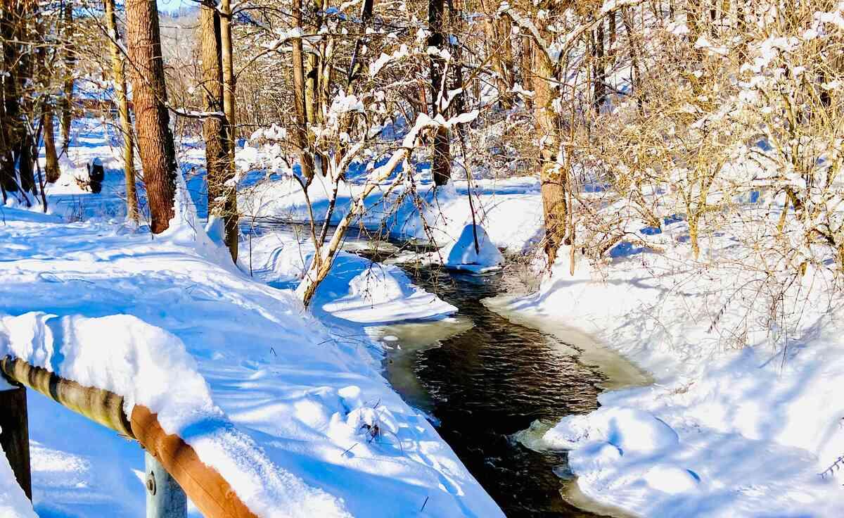 Rauda im winterlichen Mühltal