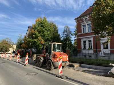 Bauarbeiten Klosterlausnitzer Straße