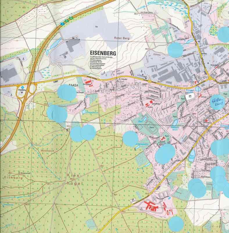 Kartendarstellung zu ruhigen Orten aus dem Planungscafé