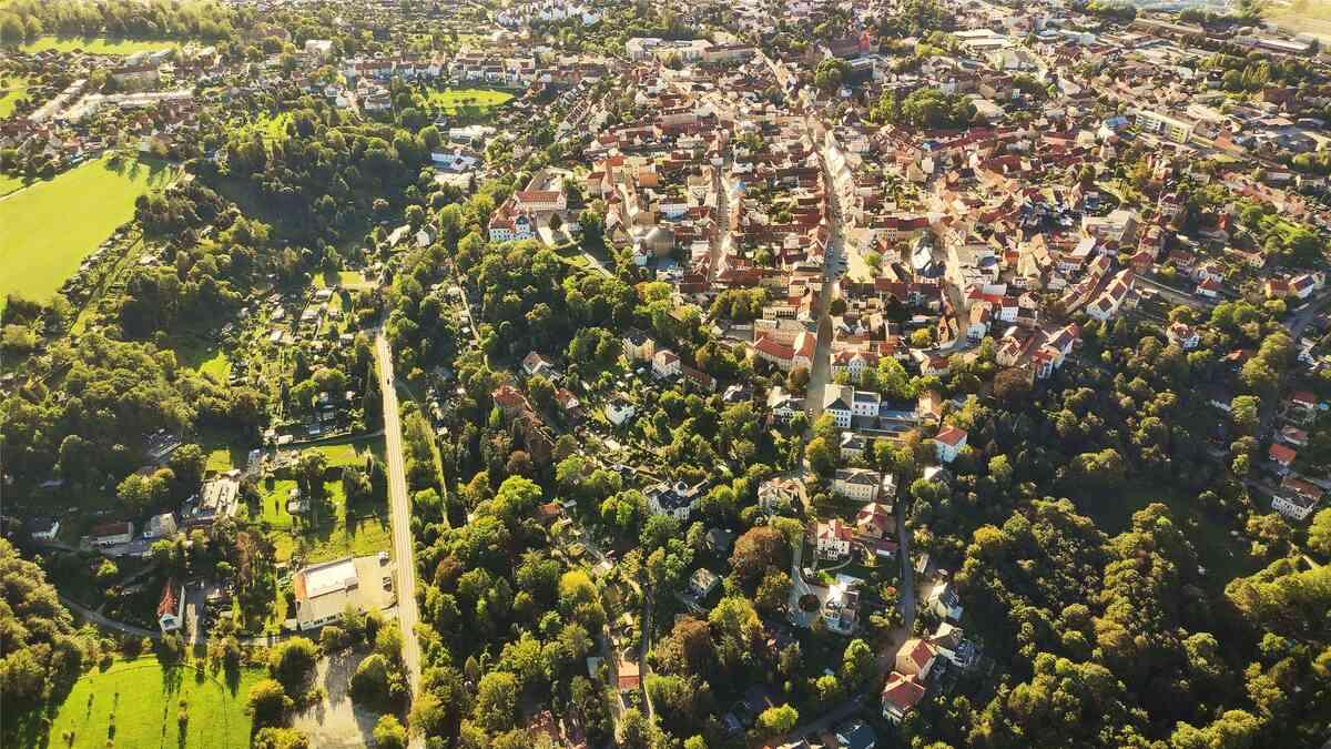 Stadtansicht Blickrichtung Geyersberg/ Innenstadt