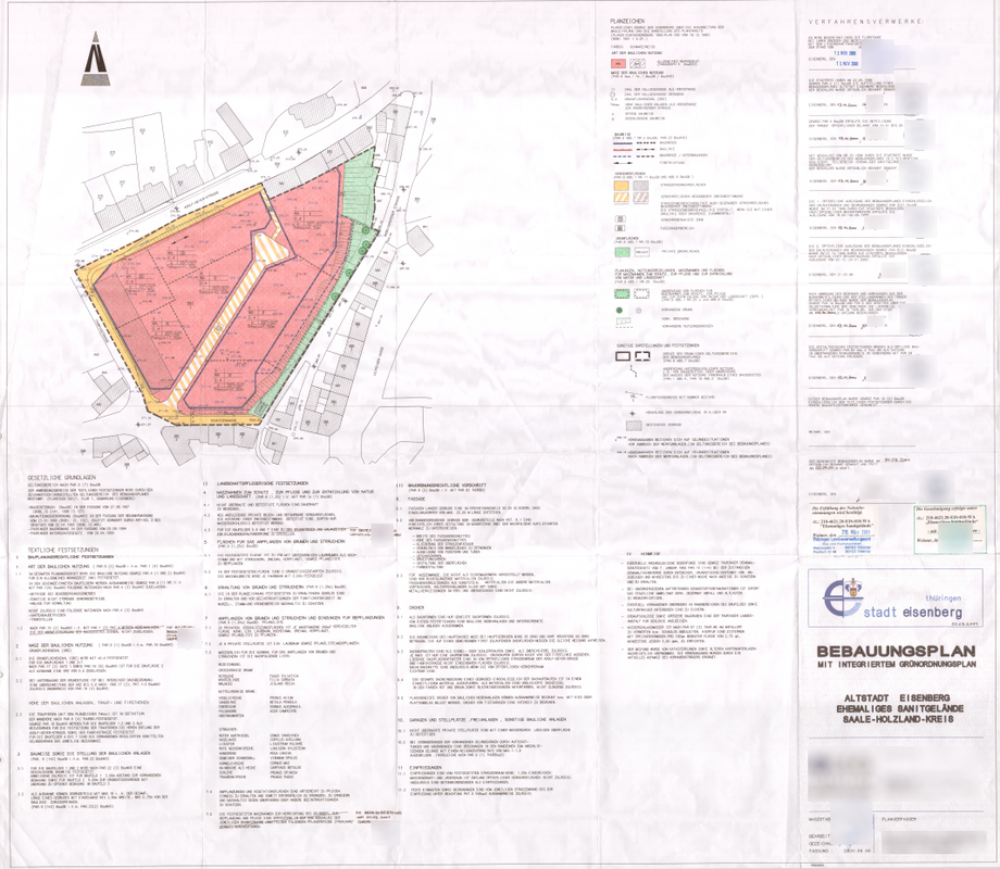 Bebauungsplan Altstadt Eisenberg Ehemaliges Sanitgelände